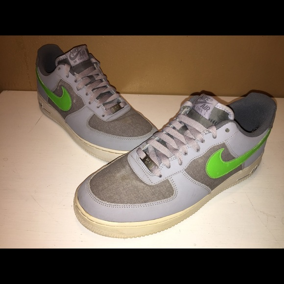 Nike Air Force Low Wolf Grey Green Size